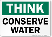 conserve-water-think-sign-s-1243